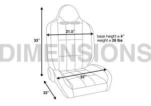 Corbeau - Corbeau Baja RS Reclining Seat  (Pair) - Image 5