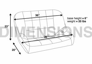 Corbeau - Corbeau 36-inch Baja Bench Seat - Image 5