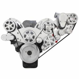 CVF Racing - CVF Wraptor Chevy Big Block Procharger Serpentine Bracket System with Alternator and Power Steering - Polished