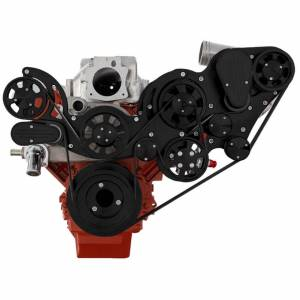 CVF Racing - CVF Wraptor Chevy LS Engine Procharger Serpentine Bracket System with AC & Alternator - Black