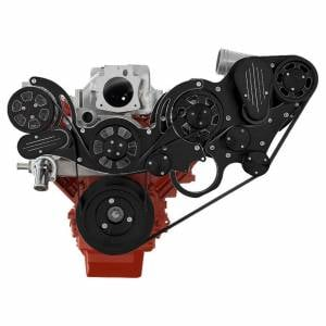 CVF Racing - CVF Wraptor Chevy LS Engine Procharger Serpentine Bracket System with Alternator - Black Diamond Finish