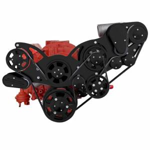 CVF Racing - CVF Wraptor Chevy Small Block Procharger Serpentine Bracket System with AC and Alternator - Black