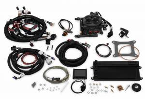 Holley EFI Injection Kits - Holley Terminator EFI Fuel Injection Systems - Holley - Holley Terminator LS TBI Kit with Transmission Control for LS2 LS3 & GM Truck 58x - Gray