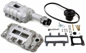 Weiand Superchargers - Chevy Big Block Weiands - Weiand Superchargers - Chevy Big Block Standard Deck Rectangular Port Weiand - Satin 177 Street Supercharger Kit