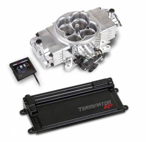 Holley EFI Injection Kits - Holley Terminator EFI Fuel Injection Systems - Holley - Holley Terminator Stealth EFI System with Transmission Control - Polished