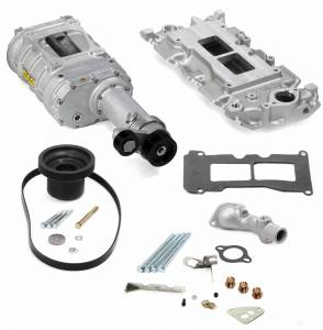 Weiand Superchargers - Chevy Small Block 1969-1985 Weiand - Satin 142 Street Supercharger Kit