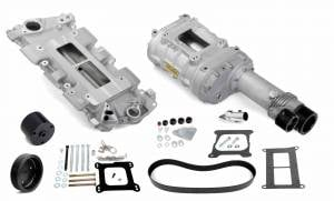 Weiand Superchargers - Chevy Small Block Low Profile Weiand - Satin 144 Universal Supercharger Kit