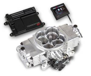 Holley EFI Injection Kits - Holley Terminator EFI Fuel Injection Systems - Holley - Holley Terminator Stealth EFI 4BBL Throttle Body Fuel Injection Master Kit - Polished