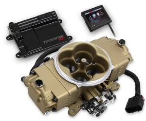 Holley EFI Injection Kits - Holley Terminator EFI Fuel Injection Systems - Holley - Holley Terminator Stealth EFI 4BBL Throttle Body Fuel Injection Master Kit - Gold