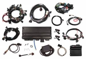 Holley EFI Injection Kits - Holley Terminator X EFI Powertrain Management System - Holley - Holley Terminator X Max MPFI Kit For 2013-2015 Ford Coyote Engines with Ti-VCT, EV1, 98+ 4R70W Transmission, and DBW