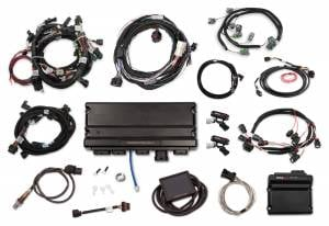 Holley EFI Injection Kits - Holley Terminator X EFI Powertrain Management System - Holley - Holley Terminator X Max MPFI Kit For 2013-2015 Ford Coyote Engines with Ti-VCT,  EV6, 98+ 4R70W Transmission, and DBW
