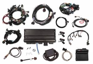 Holley EFI Injection Kits - Holley Terminator X EFI Powertrain Management System - Holley - Holley Terminator X Max MPFI Kit For 2015.5-2017 Ford Coyote Engines with Ti-VCT, EV6, 98+ 4R70W Transmission, and DBW