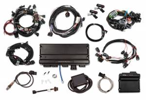 Holley EFI Injection Kits - Holley Terminator X EFI Powertrain Management System - Holley - Holley Terminator X Max MPFI Kit For 2011-2012 Ford Coyote Engines with Ti-VCT, EV1, and 98+ 4R70W Transmission