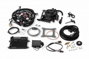 Holley EFI Injection Kits - Holley Terminator EFI Fuel Injection Systems - Holley - Holley Terminator TBI 4BBL Kit for LS2 LS3 & GM Truck with Transmission Control 58x - Grey