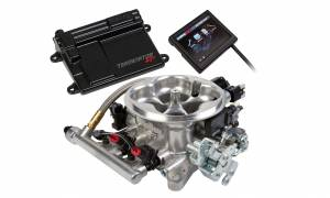 Holley EFI Injection Kits - Holley Terminator EFI Fuel Injection Systems - Holley - Holley Terminator TBI 4BBL Kit for LS2 LS3 & GM Truck with Transmission Control 58x - Polished
