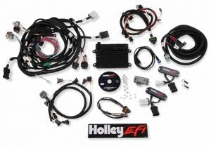Holley EFI Injection Kits - Holley HP EFI Fuel Injection Systems - Holley - Holley HP EFI 99-04 4-Valve Ford Modular Engine Fuel Injection System Complete Kit - NTK O2 Sensor