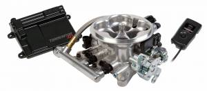 Holley EFI Injection Kits - Holley Terminator EFI Fuel Injection Systems - Holley - Holley Terminator EFI 4BBL Throttle Body Fuel Injection Kit - Polished