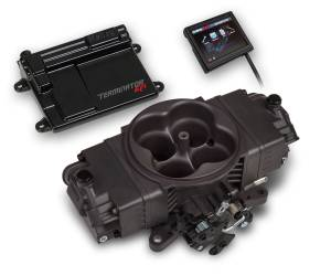Holley EFI Injection Kits - Holley Terminator EFI Fuel Injection Systems - Holley - Holley Terminator Stealth EFI 4BBL System - Grey