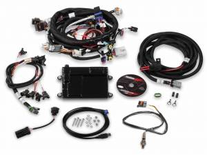 Holley EFI Injection Kits - Holley HP EFI Fuel Injection Systems - Holley - Holley HP EFI ECU and Harness Kit for LS2 LS3 LS7 58x with EV1 Connectors - NTK O2 Sensor