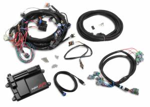 Holley EFI Injection Kits - Holley HP EFI Fuel Injection Systems - Holley - Holley HP EFI ECU and Harness Kit for LS2 LS3 LS7 58x with EV6 Connectors - NTK O2 Sensor