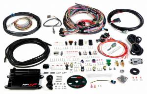 Holley EFI Injection Kits - Holley HP EFI Fuel Injection Systems - Holley - Holley HP EFI ECU and Harness Kit Unterminated Harness with EV1 Connectors - NTK O2 Sensor