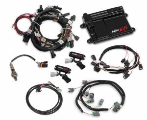 Holley EFI Injection Kits - Holley HP EFI Fuel Injection Systems - Holley - Holley HP EFI Fuel Injection System - Ford Coyote Engines 2015-2017 EV6 Connectors NTK O2 Sensor