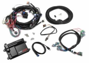Holley EFI Injection Kits - Holley HP EFI Fuel Injection Systems - Holley - Holley HP EFI ECU and Harness Kit for LS2 LS3 LS7 58x with EV6 Connectors - Bosch O2 Sensor