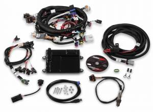 Holley EFI Injection Kits - Holley HP EFI Fuel Injection Systems - Holley - Holley HP EFI ECU and Harness Kit for LS2 LS3 LS7 58x with EV1 Connectors - Bosch O2 Sensor