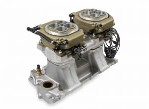 Holley EFI Injection Kits - Holley Sniper EFI Throttle Bodies - Holley - Holley Sniper EFI 4150 2x4 Self-Tuning Fuel Injection Kit 1250 HP - Classic Gold