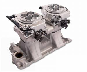 Holley EFI Injection Kits - Holley Sniper EFI Throttle Bodies - Holley - Holley Sniper EFI 4150 2x4 Self-Tuning Fuel Injection Kit 1250 HP - Shiny