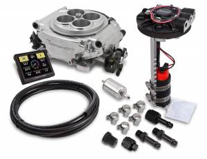 Holley EFI Injection Kits - Holley Sniper EFI Throttle Bodies - Holley - Holley Sniper EFI Returnless Self-Tuning Fuel Injection Master Kit - Shiny