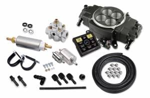 Holley EFI Injection Kits - Holley Sniper EFI Throttle Bodies - Holley - Holley Super Sniper Stealth EFI 4150 Self-Tuning Fuel Injection Master Kit 1250 HP - Black Ceramic