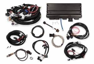Holley EFI Injection Kits - Holley Terminator X EFI Powertrain Management System - Holley - Holley Terminator X Max MPFI Controller Kit for GM 24X Truck with DBW Throttle Body & Transmission Control - No Handheld