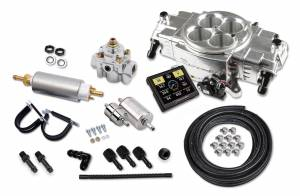 Holley EFI Injection Kits - Holley Sniper EFI Throttle Bodies - Holley - Holley Super Sniper Stealth EFI 4150 Self-Tuning Fuel Injection Master Kit 650 HP - Polished
