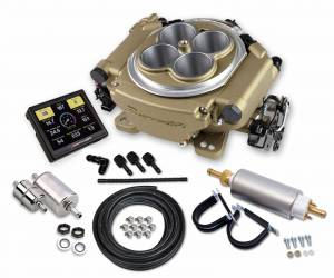 Holley EFI Injection Kits - Holley Sniper EFI Throttle Bodies - Holley - Holley Sniper EFI 4 Barrel Self-Tuning Fuel Injection Master Kit - Classic Gold