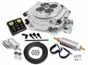 Holley EFI Injection Kits - Holley Sniper EFI Throttle Bodies - Holley - Holley Sniper EFI 4 Barrel Self-Tuning Fuel Injection Master Kit - Shiny