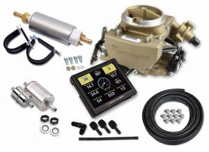 Holley EFI Injection Kits - Holley Sniper EFI Throttle Bodies - Holley - Holley Sniper EFI 2GC Large Bore Master Kit - Classic Gold