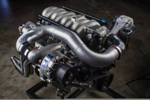 Vortech Superchargers - Chevrolet C5/C6 Corvette FEAD Vortech Supercharger - Black V-2 Ti LS-Swap Kit Carbureted