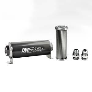 DeatschWerks Fuel Injectors & Pumps - DeatschWerks Fuel Filters - DeatschWerks - DeatshWerks In-Line Universal Fuel Filter Kit - Stainless Steel 5 micron, 10AN, 160mm