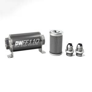 DeatschWerks Fuel Injectors & Pumps - DeatschWerks Fuel Filters - DeatschWerks - DeatshWerks In-Line Universal Fuel Filter Kit - Stainless Steel 100 Micron, 10AN, 110mm