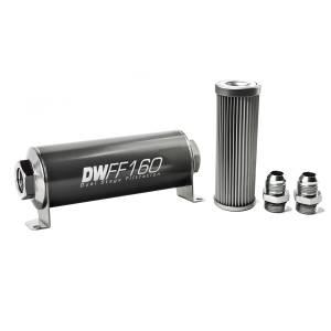 DeatschWerks Fuel Injectors & Pumps - DeatschWerks Fuel Filters - DeatschWerks - DeatshWerks In-Line Universal Fuel Filter Kit - Stainless Steel 10 micron, 10AN, 160mm