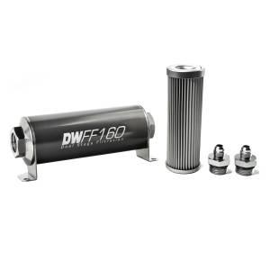DeatschWerks Fuel Injectors & Pumps - DeatschWerks Fuel Filters - DeatschWerks - DeatshWerks In-Line Universal Fuel Filter Kit - Stainless Steel 10 micron, 6AN, 160mm