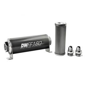 DeatschWerks Fuel Injectors & Pumps - DeatschWerks Fuel Filters - DeatschWerks - DeatshWerks In-Line Universal Fuel Filter Kit - Stainless Steel 10 micron, 8AN, 160mm