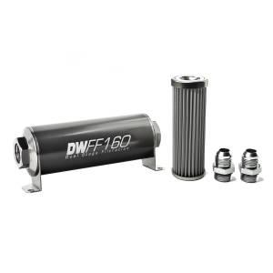 DeatschWerks Fuel Injectors & Pumps - DeatschWerks Fuel Filters - DeatschWerks - DeatshWerks In-Line Universal Fuel Filter Kit - Stainless Steel 40 micron, 10AN, 160mm