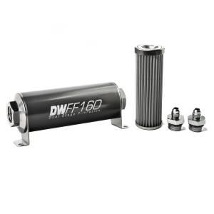 DeatschWerks Fuel Injectors & Pumps - DeatschWerks Fuel Filters - DeatschWerks - DeatshWerks In-Line Universal Fuel Filter Kit - Stainless Steel 40 micron, 6AN, 160mm