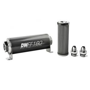 DeatschWerks Fuel Injectors & Pumps - DeatschWerks Fuel Filters - DeatschWerks - DeatshWerks In-Line Universal Fuel Filter Kit - Stainless Steel 40 micron, 8AN, 160mm