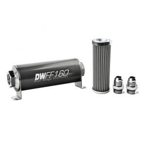 DeatschWerks Fuel Injectors & Pumps - DeatschWerks Fuel Filters - DeatschWerks - DeatshWerks In-Line Universal Fuel Filter Kit - Stainless Steel 100 micron, 10AN, 160mm