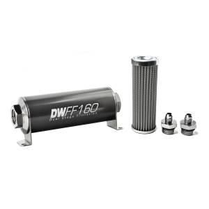 DeatschWerks Fuel Injectors & Pumps - DeatschWerks Fuel Filters - DeatschWerks - DeatshWerks In-Line Universal Fuel Filter Kit - Stainless Steel 100 micron, 6AN, 160mm