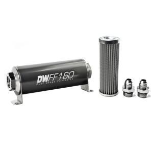 DeatschWerks Fuel Injectors & Pumps - DeatschWerks Fuel Filters - DeatschWerks - DeatshWerks In-Line Universal Fuel Filter Kit - Stainless Steel 100 micron, 8AN, 160mm