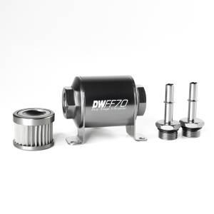 DeatschWerks Fuel Injectors & Pumps - DeatschWerks Fuel Filters - DeatschWerks - DeatshWerks Fuel FilterReplacmentOnly Ford Mustang 2005-2020 - Stainless Steel 10 Micron